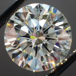 Loose Diamond: 3.61 Round L/Si1 Triple EX Cut Grade Diamond GIA R3061