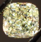SOLD...Loose Diamond: 1.12ct Fancy Light Yellow Round Cornered Square- Cushion GIA R3002