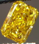 SOLD..Loose Diamond: .72ct Fancy Deep Orangy Yellow Radiant with REMARKABLE color GIA R3114