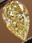 SOLD...Loose Diamond: .75ct Fancy Yellow Pear Diamond GIA Organic shape R3023