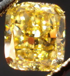 SOLD....Loose Diamond; 1.56ct Fancy Deep Brownish Yellow Cushion GIA Incredible color R3128
