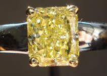 SOLD....Solitaire Diamond Ring: 1.22 Fancy Intense Yellow Radiant Diamond GIA Broad R3182