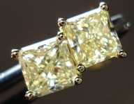 SOLD....Diamond Earrings: 1.32ct twYellow Radiant Diamond Studs 18kt R3213