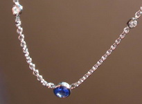 SOLD....Sapphire and Diamond Necklace- Perfect Bezels 18kt Italian Gold R3212