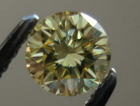 SOLD....Loose Diamond: .28ct Round Fancy Yellow GIA Nicely Cut Great Sparkle R3278