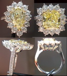 "Semi Mount Ring: Platinum ""Princess"" Halo Ring Custom Made Perfection SO2436"
