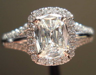 0.75ct I VS1 Cushion Cut Diamond Ring R3349