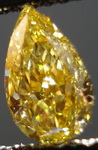 SOLD....Loose Diamond: .62 Fancy Intense Orangy Yellow Pear Diamond Rare Color R3335