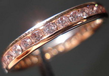Diamond Wedding Band: Pink Gold with Natural Pink Diamonds Precision set SO3290