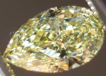 SOLD....Loose Diamonds: .53ct Fancy Yellow Internally Flawless Pear GIA R3386