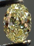 SOLD....Loose diamond: .44ct Oval Natural Yellow Great Shape Color R3406