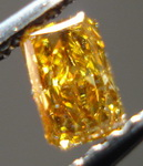 SOLD......Loose Diamond: .23ct Orangy Yellow Radiant Diamond SPECIAL R3403