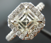 SOLD.....Halo Diamond Ring: 1.37ct K/VVS2 Asscher Cut Platinum Micro-set R3426