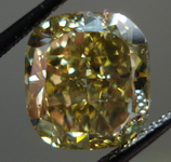 SOLD....Loose Diamond: 5.02ct Fancy Deep Brownish Greenish Yellow Cushion Great color GIA R3451