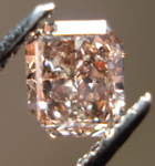 SOLD......Loose Diamond: .74ct Fancy Orange-Brown Radiant Diamond, looks pinks R3462