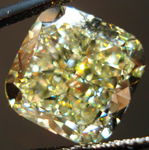 SOLD....Loose Diamond: 8.29ct Fancy Yellow Cushion SI1 Diamond GIA Massive Beauty R3488
