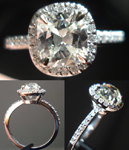 Semi Mount Ring: Delicate Looking Halo Custom Made SO3039
