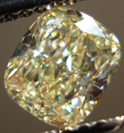 SOLD....Loose Diamond: 1.03 Y-Z Cushion VVS1 Diamond GIA Lovely Lemon Color R3499