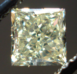 SOLD.....Loose Diamond: .70ct Y-Z Princess Cut SI1 Diamond Lovely Lemonade Color R3525
