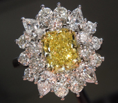 SOLD.....Diamond Ring: 1.55ct Fancy Intense Yellow VS2 Radiant Diamond GIA R3555