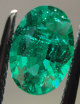 Loose Emerald: Precision Cut 1.30ct Emerald Oval Shape Sensational Color R3546