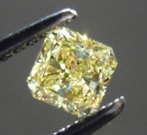 SOLD....Loose Diamond: .45ct Radiant Cut Fancy Intense Yellow SI1 GIA Great Sparkle  R3581