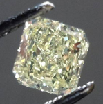 SOLD....Loose Diamond: .72ct Radiant Cut Fancy Light Yellow VS2 GIA Lovely Lemonade R3584