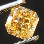 SOLD.....Loose Diamond: .71ct Radiant Cut Fancy Intense Orangy Yellow SI2 GIA Deliciously Orange R3585