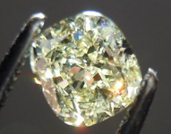 SOLD....Loose Diamond: .72ct Cushion Cut Fancy Light Yellow VS1 GIA Lovely Shape R3586