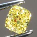 SOLD......60ct Cushion Cut Fancy Vivid Yellow VS1 GIA Pure Yellow Color R3595
