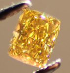 SOLD....Loose Diamond: .57ct Fancy Deep Brownish Yellow Radiant Cut GIA Cool Color R3594