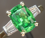 SOLD.....2.04ct Cushion Cut Tsavorite Ring R3603