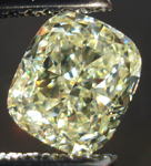 SOLD....Loose Diamond: 1.28ct Cushion Cut Fancy Light Yellow VVS2 GIA Beautiful Crushed Ice R3637
