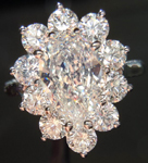 SOLD....Diamond Halo Ring: 1.54ct Pear Shape J/IF GIA Platinum Halo Ring R3656