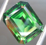 SOLD....Loose Chrome Tourmaline: 4.22ct Chrome Tourmaline Emerald Cut Truly A Rare Beauty R3658