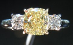 SOLD....Loose Diamond: 1.04ct Cushion Cut Fancy Light Yellow SI1 GIA Beautiful Bucket of Crushed Ice R3664