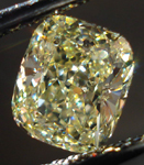SOLD....Loose Diamond: .90ct Cushion Cut Fancy Light Yellow VS2 GIA Beautiful Stone R3667