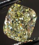 SOLD....Loose Diamond: .90ct Cushion Cut Fancy Light Yellow VS2 GIA Beautiful Stone R3667
