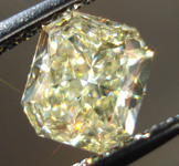SOLD....Loose Diamond: 1.24ct Radiant Cut Fancy Light Yellow VS2 GIA Sparkling Lemonade R3673