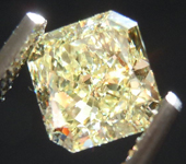 SOLD....Loose Diamond: 1.01ct Radiant Cut Fancy Light Yellow VS1 GIA Lovely Lemon Color R3668