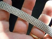 Bracelet: 15.03cts Diamond Tennis Bracelet R3681