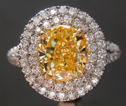 1.64ct Fancy Intense Yellow VS1 Oval Diamond Ring R3683