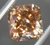 SOLD....Loose Diamond: 1.05ct Cushion Cut Fancy Orange Brown VS1 Auburn Beauty R3697