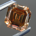 SOLD....Loose Diamond: 1.04ct Asscher Cut Fancy Yellow Brown SI1 Better Than Chocolate R3698