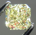 SOLD....Loose Diamond: .71ct Radiant Cut Fancy Light Yellow SI1 GIA Wonderful Sparkle R3707