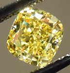 SOLD....Loose Diamond: .73ct Cushion Cut Fancy Intense Yellow SI1 GIA Vibrant! R3708