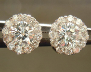 Diamond Halo Earrings: .53ct tw Diamond Halo Earrings in 18K White Gold SO3719