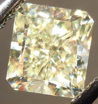SOLD.....Loose Diamond: 1.08 Y-Z VS1 Radiant Really nicely Cut Light Lemon Yellow GIA R3738
