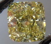 SOLD....Loose Diamond: .51ct Cushion Fancy Yellow VS1 GIA bargain R3788