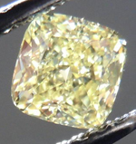 SOLD....Loose Diamond: .59ct Cushion Cut Fancy Yellow VS2 GIA Perfect Shape R3790